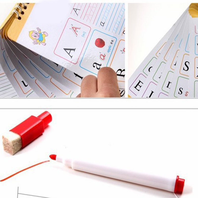 White Board Markers Environmental Protect 8colors School Classroom Whiteboard Pen Built In Eraser Student Drawing Pen
