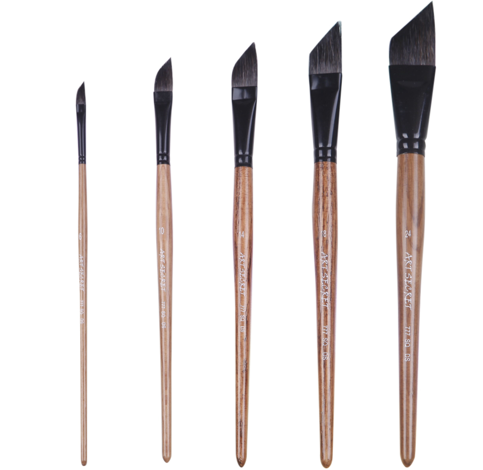 777SQDS 1PC High Quality Squirrel Hair Oak Wooden Handle Liner Paint Brushes Artistic Watercolor Painting Art Brush For Drawing