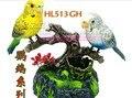 Около 15x13x13 см электрические птицы игрушки Голосового управления Пары попугаев Игрушки Рождественский подарок w6980