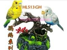 Environ 15x13x13 cm oiseaux électriques jouet Voix contrôle Couples perroquets Jouet De Noël cadeau w6980