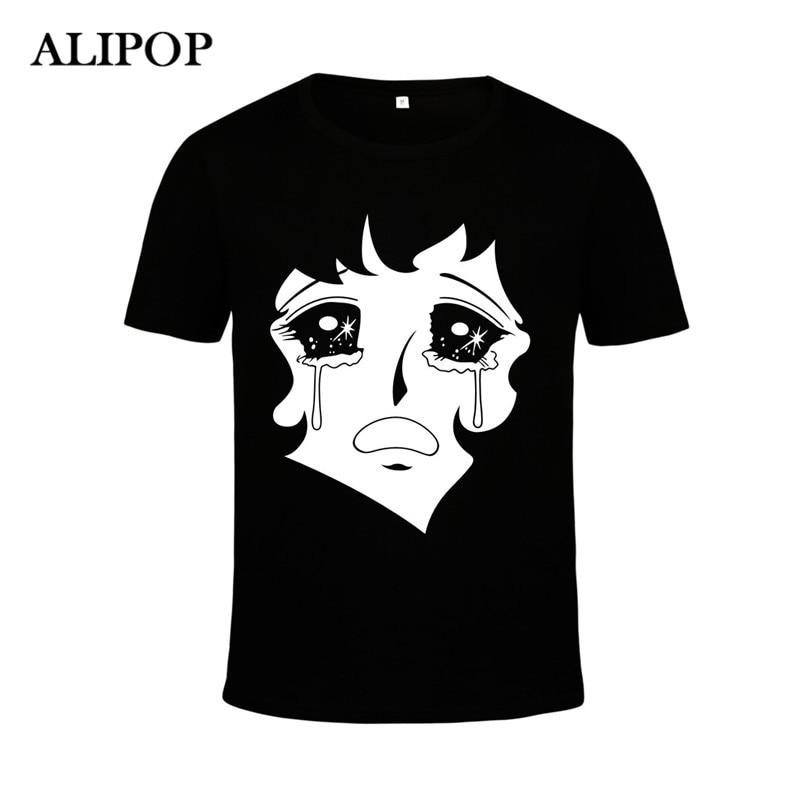 ALIPOP Kpop Korean Fashion Blackpink Album Square One Two STAY Crying Face Cotton Tshirt K-POP T Shirts T-shirt Tops PT410