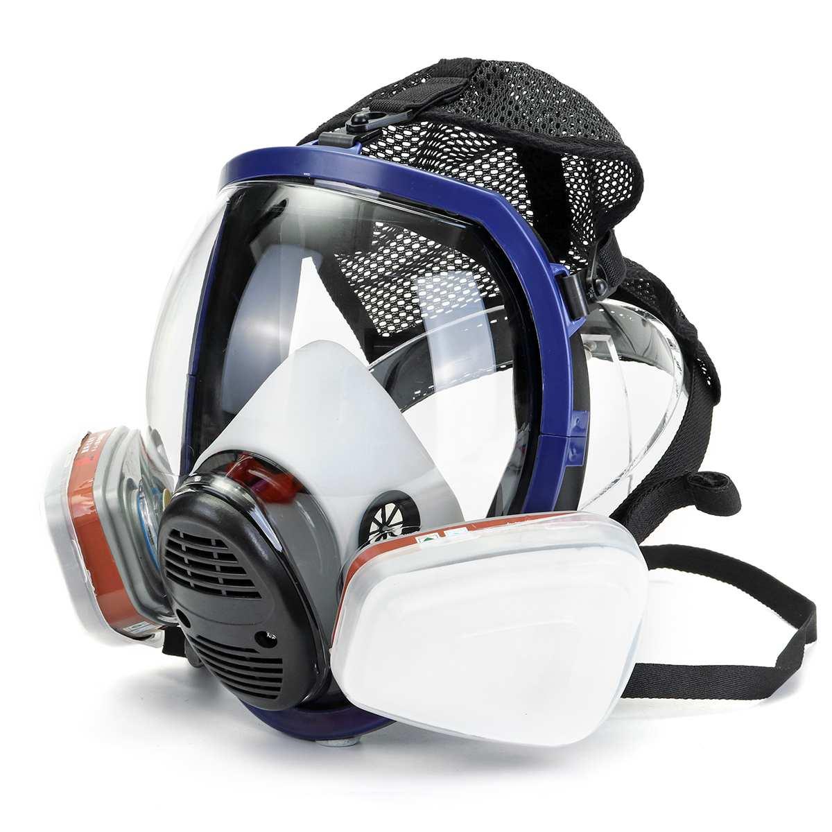 15 en 1 masque à gaz pour 6800 visage complet masque anti-poussière respirateur peinture pulvérisation chimique laboratoire médical travail de sécurité
