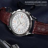 Reloj de lujo yazol para hombre, Relojes de Cuero para hombre, relojes de pulsera de cuarzo, reloj de pulsera para hombre # saat, reloj de moda para hombre 2019