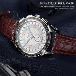 Yazole relógio masculino luxo relógio de couro negócios relógios de quartzo relógio de pulso masculino reloj hombre # saat relógio de moda para homem 2019