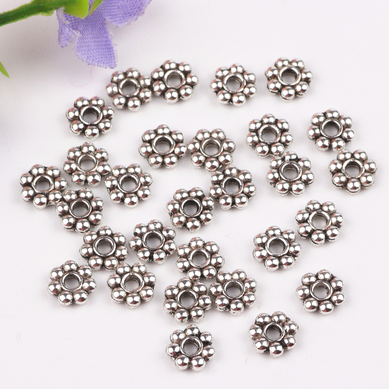 5mm 100pcs Silver Plated Metal Spacer Beads Jewelry Findings Earrings Necklace