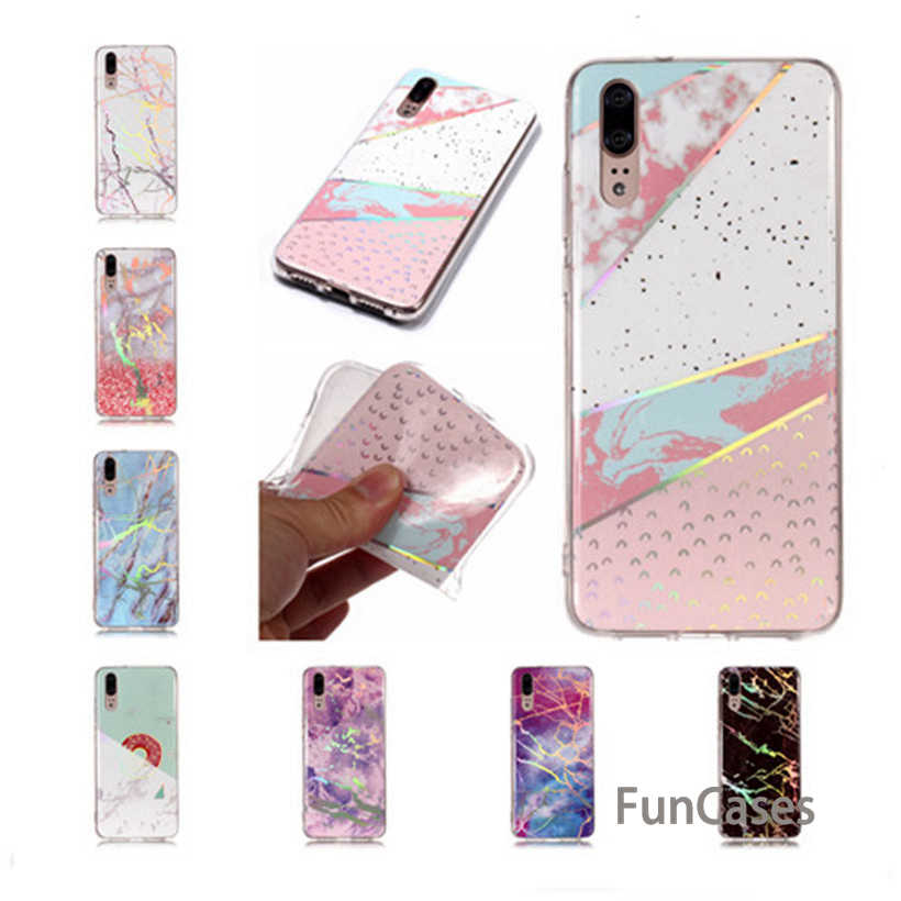 Case For Huawei P20 Pro Case Soft For Huawei P20 P10 P9 P8 Lite 2017 Silicone Case P9 Lite Mini Marble Phone Shell Huwawei