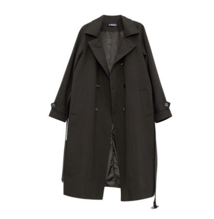 XIU LUO Sashes Long Trench...