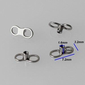 Image 2 - 20 개/몫 g23 티타늄 교체 피부 앵커 2 구멍 기본 피어싱 바디 쥬얼리