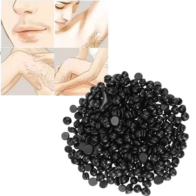 20g Painless Black Hard Wax Beans Depilatory Pellet Hot Film Hard Female Hair Removal No Strip Hard Wax Bead