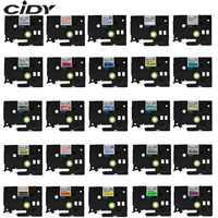 CIDY Multicolor laminowane tze 231 tze231 12mm czarny na białym taśmy tze-231 tz-231 dla brother p-touch drukarki tze-131