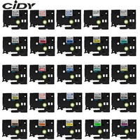 CIDY tze 231 Multicolor Compatible laminated tze 231 tze231 12mm Black on white Tape tz 231 for brother p touch printer tze 131|Printer Ribbons| |  -