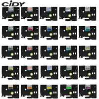 CIDY tze-231 Multicolor Compatible laminated tze 231 tze231 12mm Black on white Tape tz-231 for brother p-touch printer tze-131