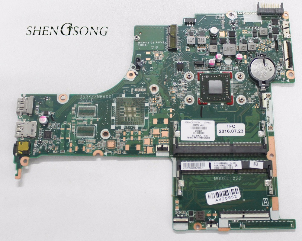 809336-601 809336-501 809336-001 Free Shipping DA0X22MB6D0 for HP Pavilion 15-ab motherboard A6-6310 CPU All fully Tested ! free shipping 712794 001 for hp pavilion touchsmart 15 15 b motherboard hm77 i5 3337u all functions 100% fully tested