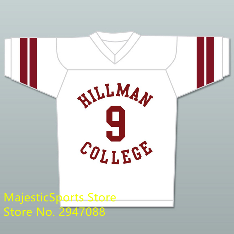 Dwayne Wayne 9 Hillman College White Football Jersey with Theater Eagle Patch A Different World