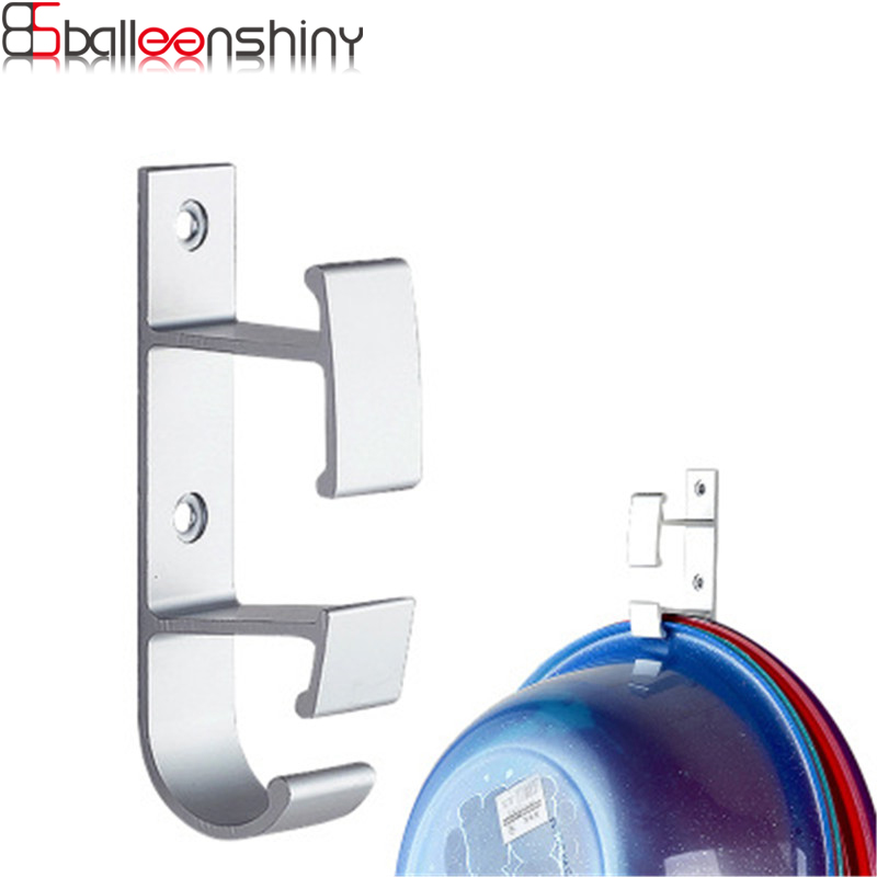BalleenShiny Avoid Hole Drilling Space Aluminum Washbasin Hook Double Layer Bathroom Tub Wall Hang Kitchen and Bath Holder