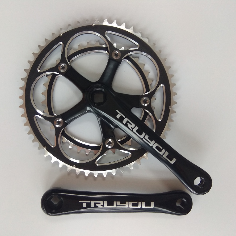 цена на TRUYOU Road Bicycle Crankset 130 BCD 53T 39T Double Plate Chainwheel 3/32 Folding Bike Chainrings 2*7/8/9 Speed Crank 170mm