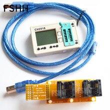 SPI FLASH programmatore CH2016 Multi offline programmatore + 208mil SOP8 + SOP8 presa di prova di Produzione 1 trascinare 2 programmatore
