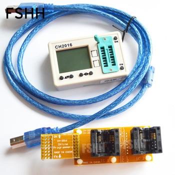 SPI FLASH programmer CH2016 Multi offline programmer+208mil SOP8+SOP8 test socket  Production 1 drag 2 programmer irf8736 f8736 sop8