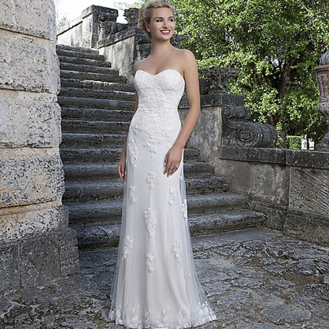 New Arrival With Detachable Sleeves Tulle Wedding Dress See Applique