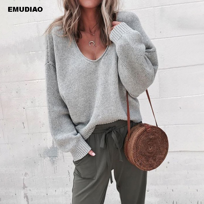 e6dfd6712d6 Big Sale] 100% hand made pure wool Vneck thick knit women fashion ...