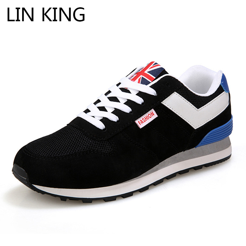 LIN KIING New Leisure Tenis Men Sneakers Lace Up Low Top Shoes Breathable Cotton Padded Shoes Outdoor Man Anti Skid Ankle Shoes lin king women casual shoes leisure lace up wedge shoes fashion low top massage ankle shoes solid massage outdoor single shoes