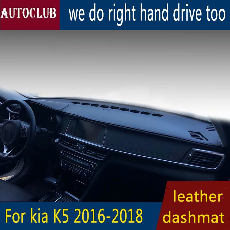 For Kia Optima K5 2016 2017 2018 2019  Leather Dashmat Dashboard Cover Car Dash Mat SunShade Carpet Pads Accessories  Styling