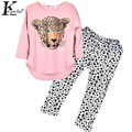 Girls Clothing Sets Long Sleeve Sport Suit 2017 Brand Toddler Girl Clothes Fashion Tracksuit For Girls Vestidos Costume For Kids