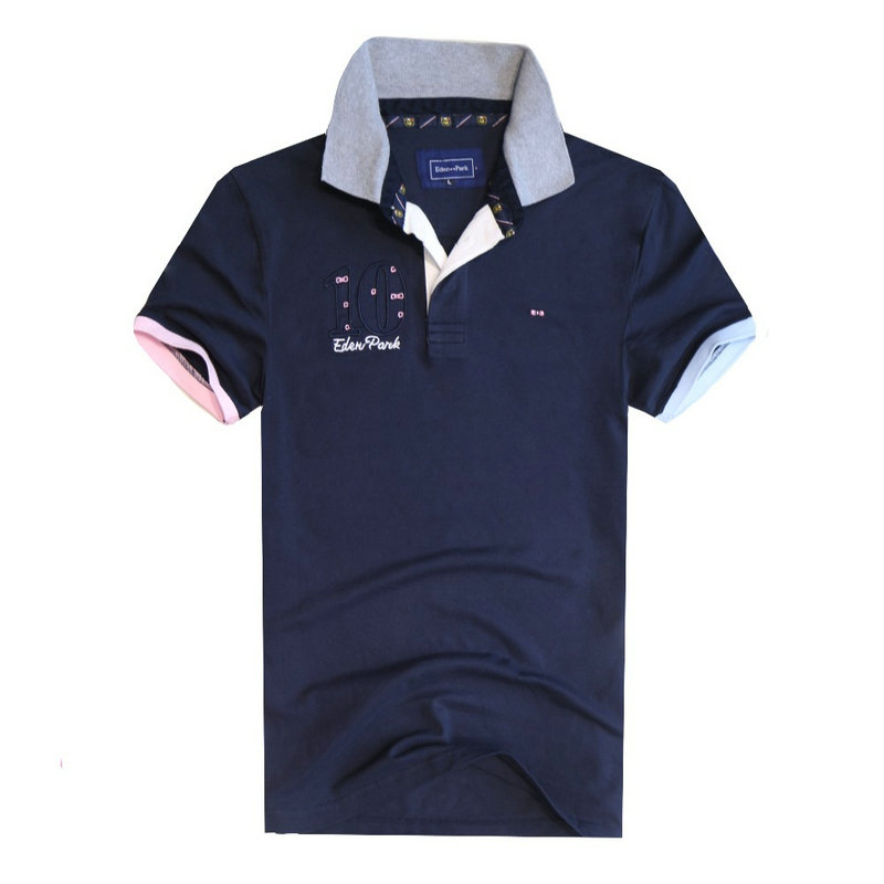 Hot Brand Men Summer Eden Park Short Polos Clothing 100% Cotton Camisa Letter 10 Men's Casual Sportswear Breathable Polo Shirts Strong Resistance To Heat And Hard Wearing