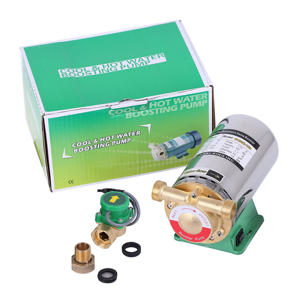 Automatic Booster Pump Hot Water Boost Pressure Pump 220V 25LPM Flow 15m Lift flow ristrictor air booster 25