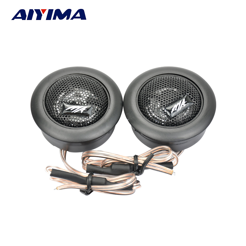 Aiyima 2Pcs Car Speaker Dome Tweeters MA260 120W 4 Ohm 35 W Audio Loudspeaker