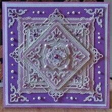 цена на Eastshape Lace Square Frame Dies Metal Cutting Dies Scrapbooking Edge Border for Card Making DIY Craft Embossing Die Cut New