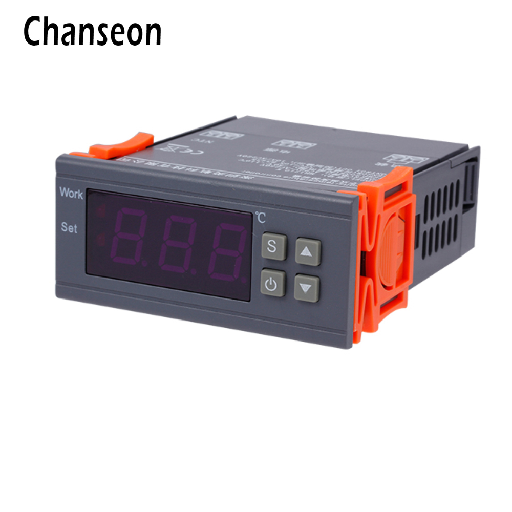 90 ~ 250 V 10A Digitale Thermostat Regler Temperaturregler Heizung Kühlregelung-50 ~ 110 Grad Celsius mit Sensor