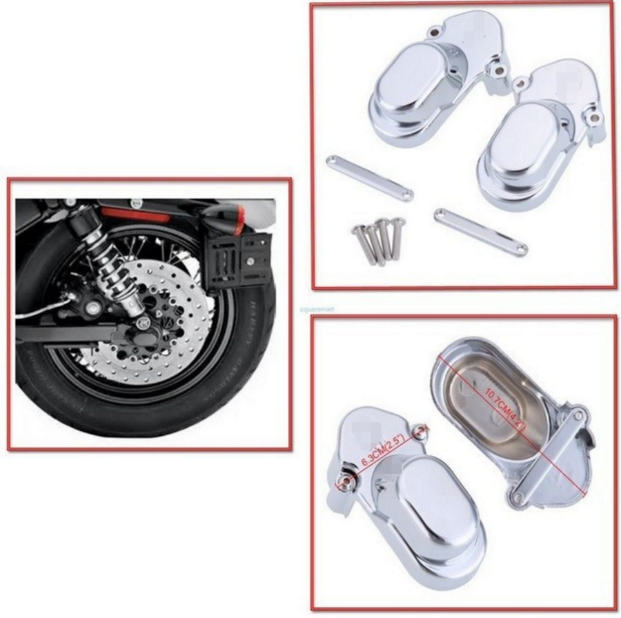 Sliver Rear Axle Cover Cap Set For Harley Davidson Sportster 883 1200 2005-2014 abs rear chrome axle cap cover kit motorcycle decorative accessories for harley davidson sportster xl883 1200n 2005 2014 7395