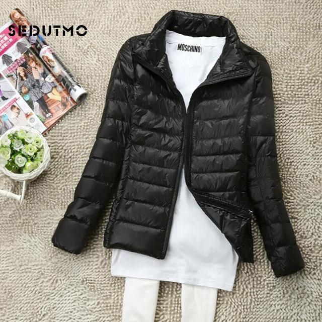 SEDUTMO Winter Women Down Coat Short Ultra Light Duck Down Jackets Slim Puffer Jacket Autumn Parkas ED660 2