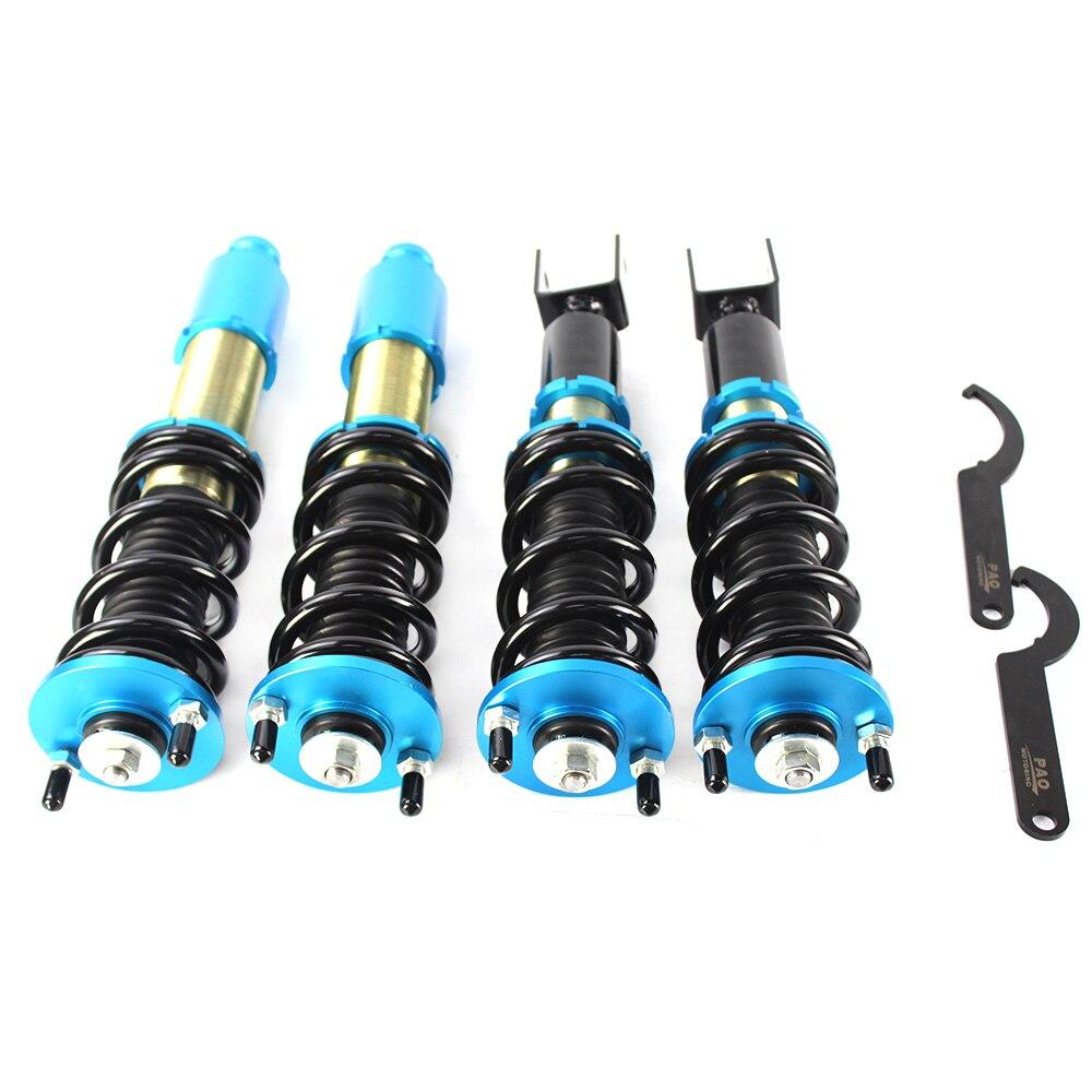 Set completo Regolabile in Altezza Coilover Kit Molla Bobina di Ammortizzatori di Sospensione Per Honda Civic 92-00 Del Sol 92- 97 Acura Integra 94-01