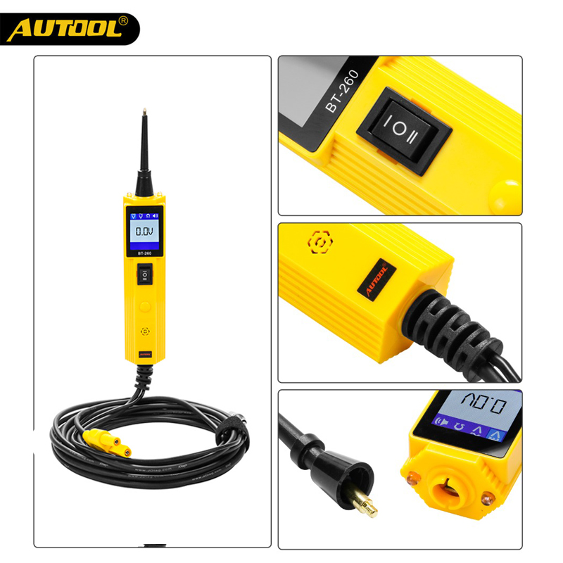 цена Free DHL AUTOOL BT260 Car Circuit Tester Electrical System Diagnostic Tool Power Probe Voltage Test better