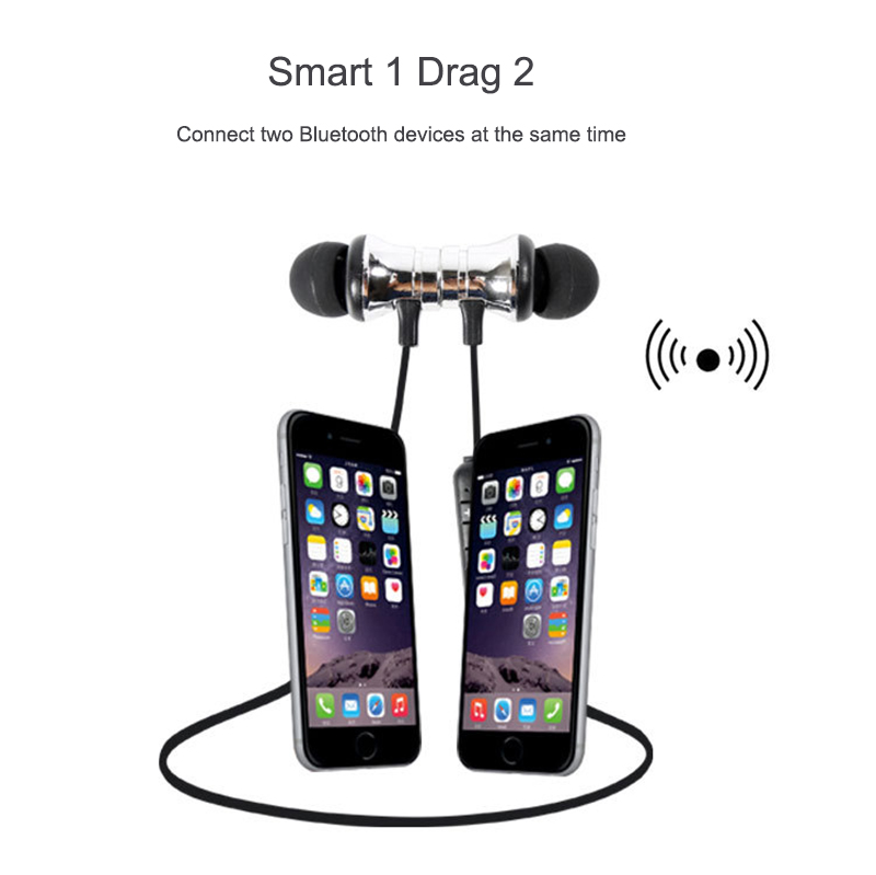 HCQWBING Stereo Bluetooth Earphone With HD Mic Wireless Headphone Sport Headset Earbuds For iphone 8 X Android Earpods Airpods