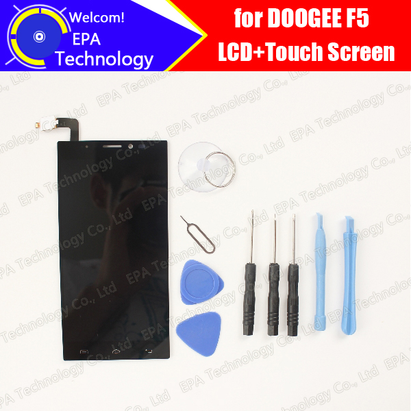 DOOGEE F5 LCD Display+Touch Screen 100% Original New Tested Digitizer Glass Panel Replacement For F5 + Tools 5pcs lot free shipping 100% new original for tcl y900 lcd screen touch panel for tcl y900 lcd display 100% tested