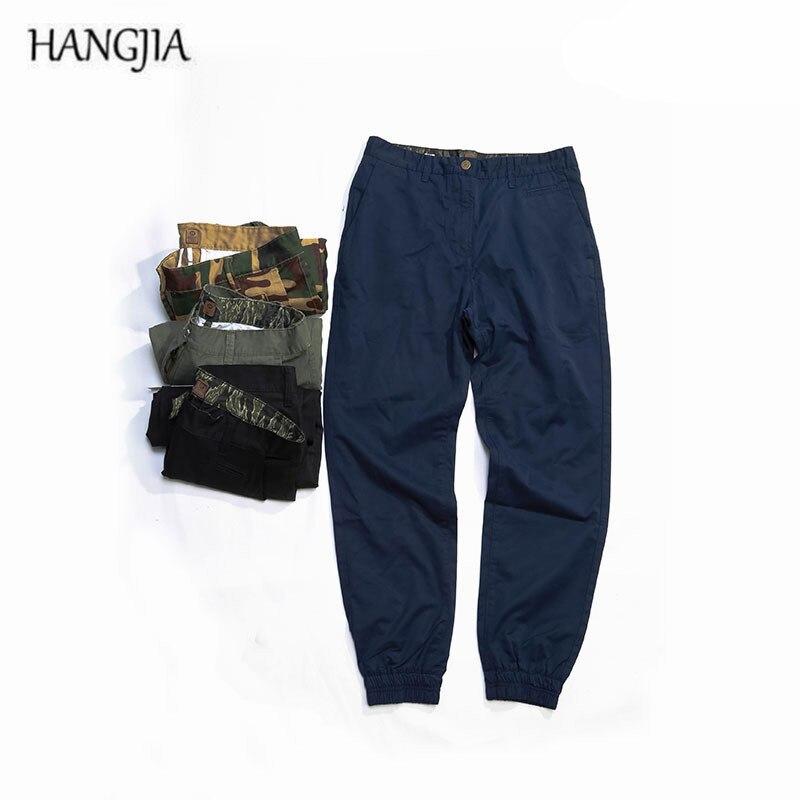 2018 Camouflage pantalons de survêtement à faisceau lâche jeunesse Europe et états-unis rue hip-hop pieds hommes couleur unie pantalons décontractés