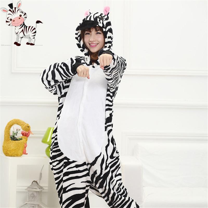 Cheep Winter Unisex Adult Pajamas Cosplay Costume Animal Onesie Sleepwear Stitch Zebra Pikachu Bat Unicorn Tigger Plus Size XXL
