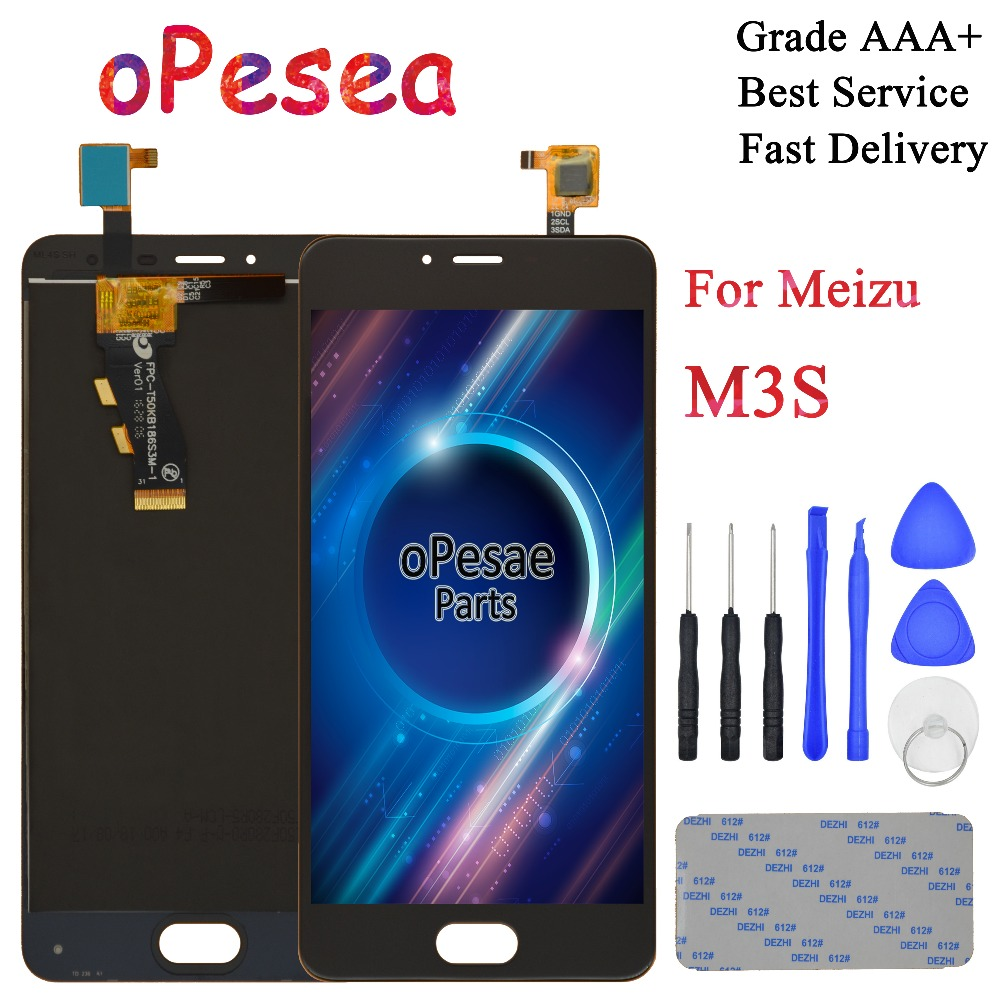 oPesea 5.0'' For <font><b>MEIZU</b></font> <font><b>M3S</b></font> LCD <font><b>Display</b></font> Panel Touch Screen Digitizer Glass Sensor Assembly With Frame for meilan 3s lcd image