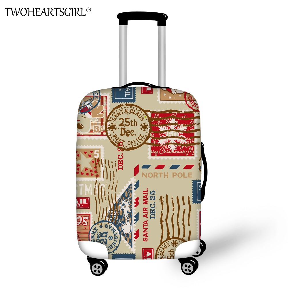 TWOHEARTSGIRL Thick Stretch Luggage Dust Proof Cover Quality Suitcase Protective Cover Travel Luggage Dust Cover for Trunk Case цены