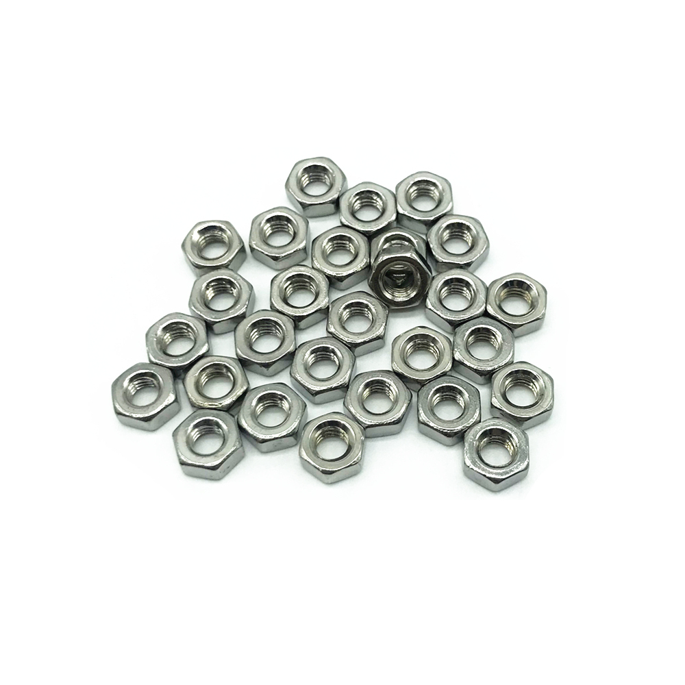 304 Stainless Steel Hex <font><b>Nuts</b></font> DIN934 100pcs M1.6 M2 M2.5 <font><b>M2.6</b></font> M3 M4 M5 M6 M8 M10 M12 M14 M16 M18 M20 M22 M24 Hexagon <font><b>Nuts</b></font> image