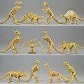 12 pçs/lote Novidade Sortidas Figura Esqueleto Fóssil de Dinossauro Modelo de Dinossauro Jurassic Park Mundo Jogar Brinquedos de Plástico Melhor Presente