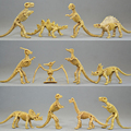 12pcs/lot Novelty Assorted Dinosaur Fossil Skeleton Figure Plastic Jurassic Park World Play Toys Dinosaur Model Best Gift