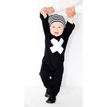Cross Romper Newborn Nununu Baby Rompers Cotton Kids Clothing Black Boys Girls Clothes Children Clothing Jumpsuit Kikikids