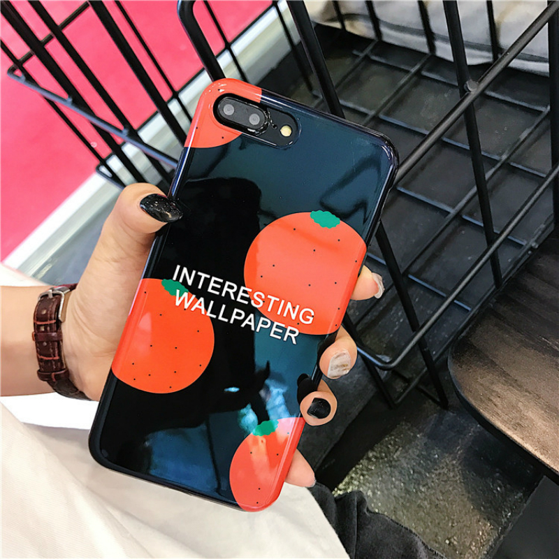 Glossy Fruit Phone Case For iphone X Case For iphone 7 Plus 6 S 8 Plus