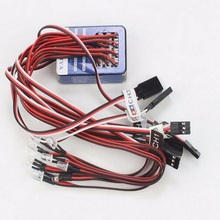 New Arrival TAMIYA 12 LED Simulation Lights Smart System Flash For RC 1 10 Scale Models