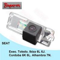 BOQUERON voor Seat Cordoba 6 K 6L Alhambra Ibiza 6L 6J Exeo Toledo HD CCD Waterdichte Auto Camera omkeren backup achteruitrijcamera