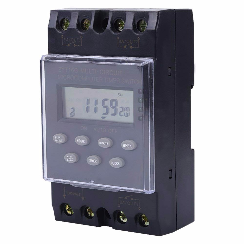 цена на Timer Switch ON/OFF Relay Module, Multi-channel Automatic Programmable Microcomputer Timer Switch, ZYT16G KG316T-3a AC220V Timer